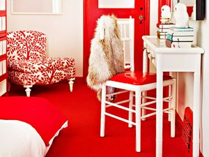 Get the Look: A Bedroom Where Red Rules