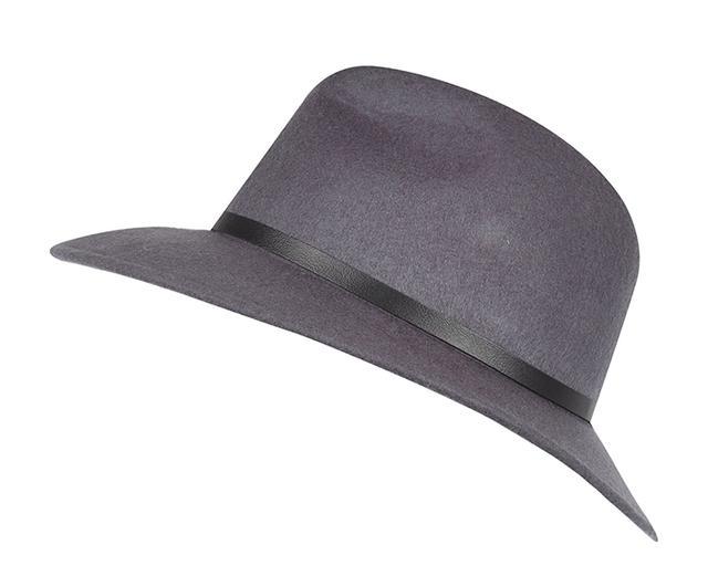 River Island Grey Fedora Hat