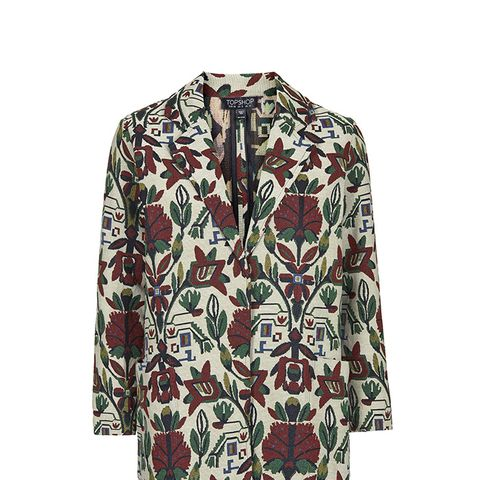 Botanical Embroidered Coat