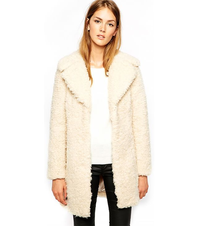 Warehouse Faux Fur Coat