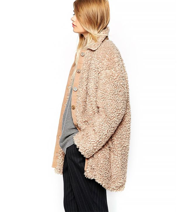 The Laden Showroom X Paisie Teddy Bear Faux Fur Coat