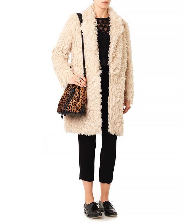 Elizabeth and James Iris Faux-Shearling Boyfriend Coat