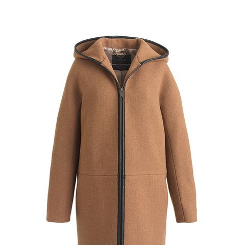 Stadium-Cloth Hooded Zip Coat