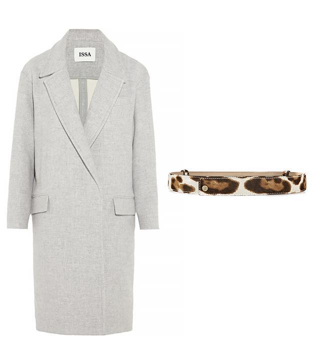 Issa Robin Oversized Wool-Blend Coat