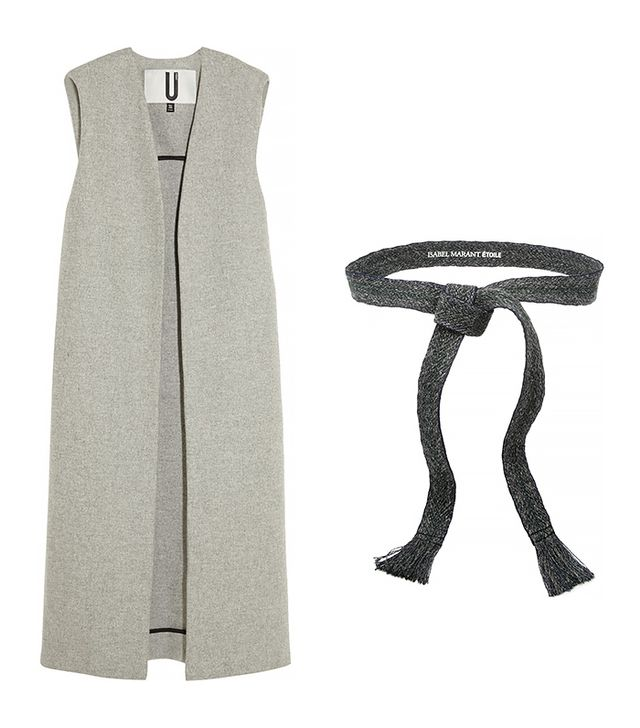 Topshop Unique Sleeveless Wool-Blend Coat