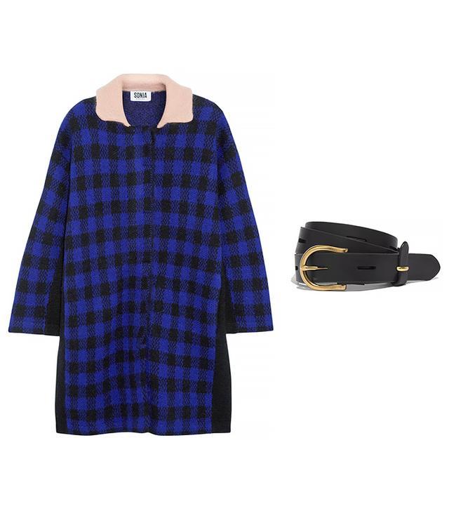 Sonia by Sonia Rykiel Checked Knitted Coat