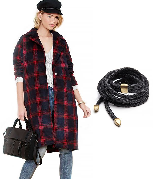 Nasty Gal Plaid Intentions Coat