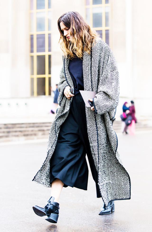 Styling tip: Wear heels if your coat's hemline is on the longer side: