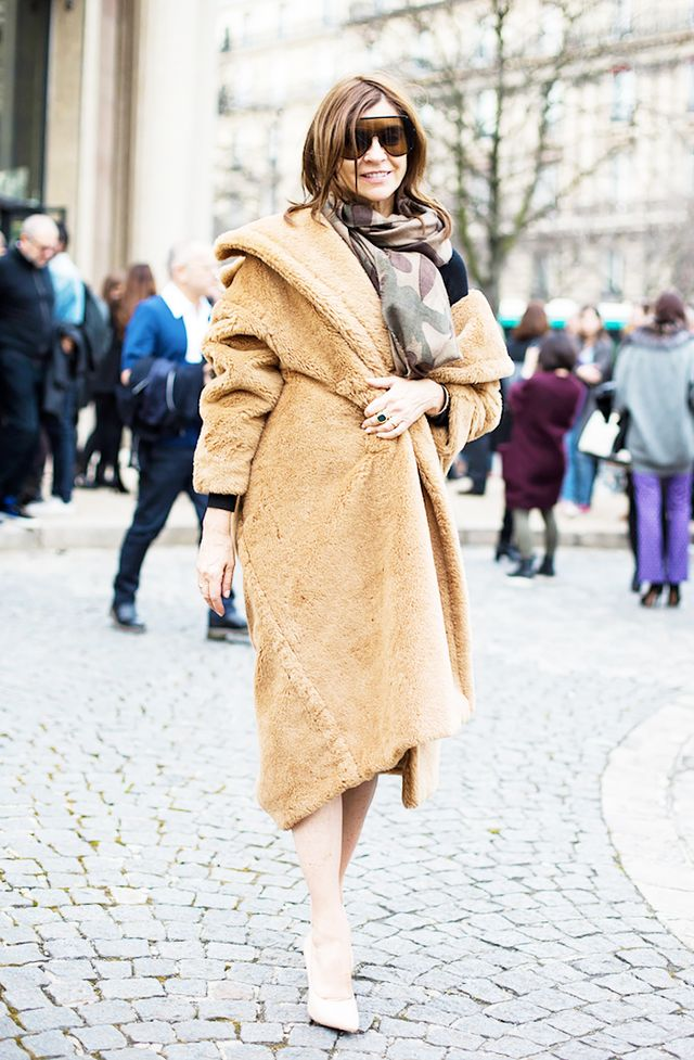 Styling tip: A blanket coat looks very cool when it's a bit undone: