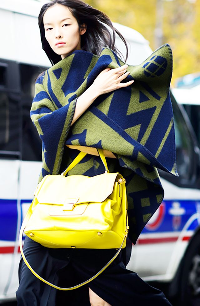Styling tip: Make a stylish statement with a colourful printed wrap version: