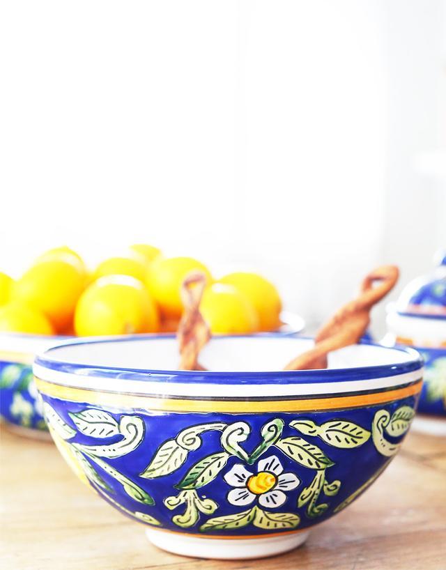 Le Souk Ceramique Sweet Lemon Serving Bowl