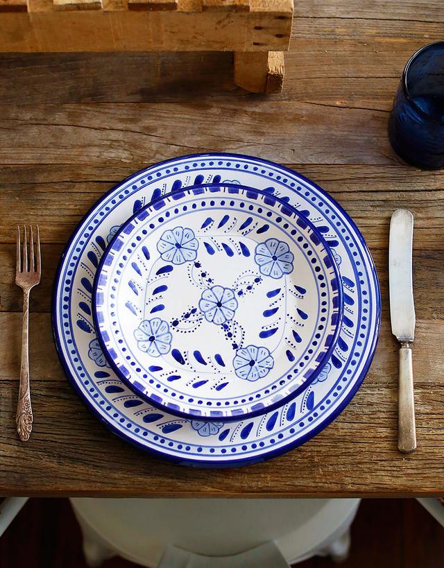 Le Souk Ceramique Floral Dinner Plate