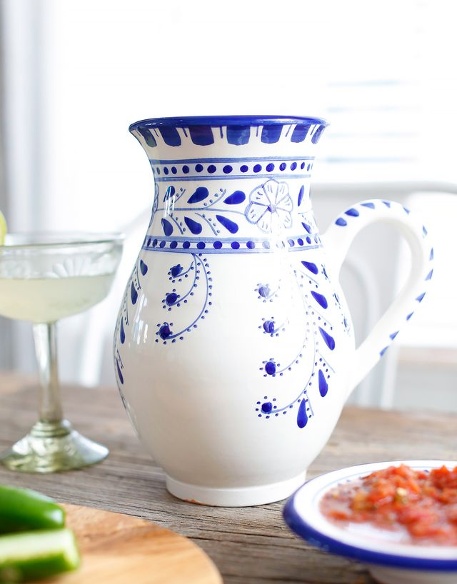 Le Souk Ceramique Floral Pitcher