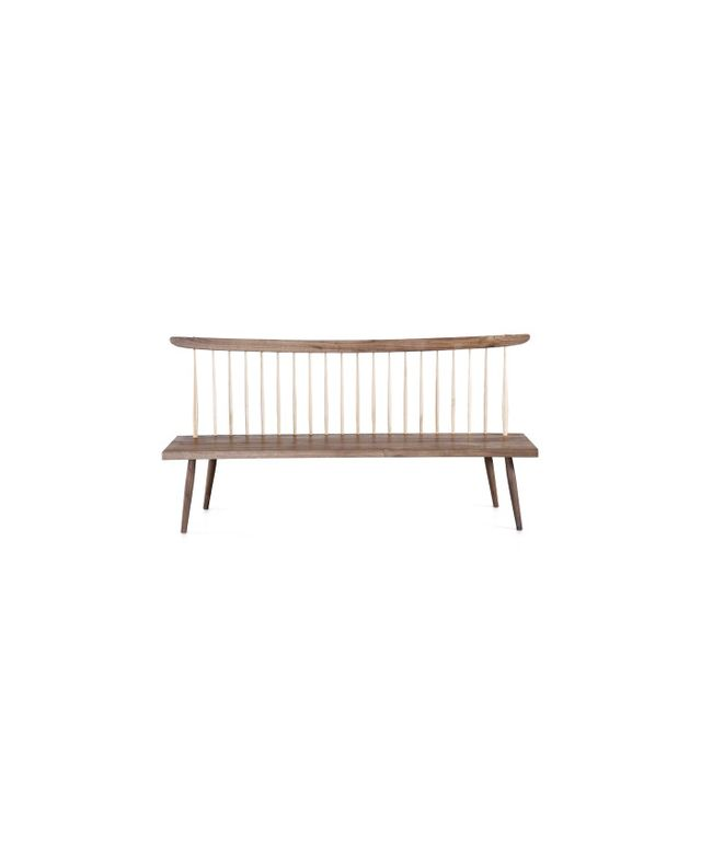 Organic Modernism American Walnut Bench