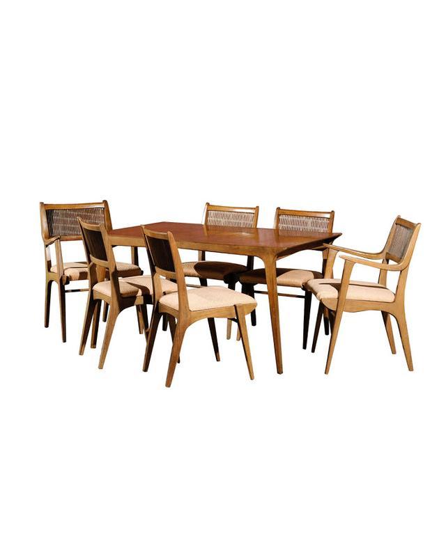 1st Dibs Modernist Dining Suite by John O. Van Koert