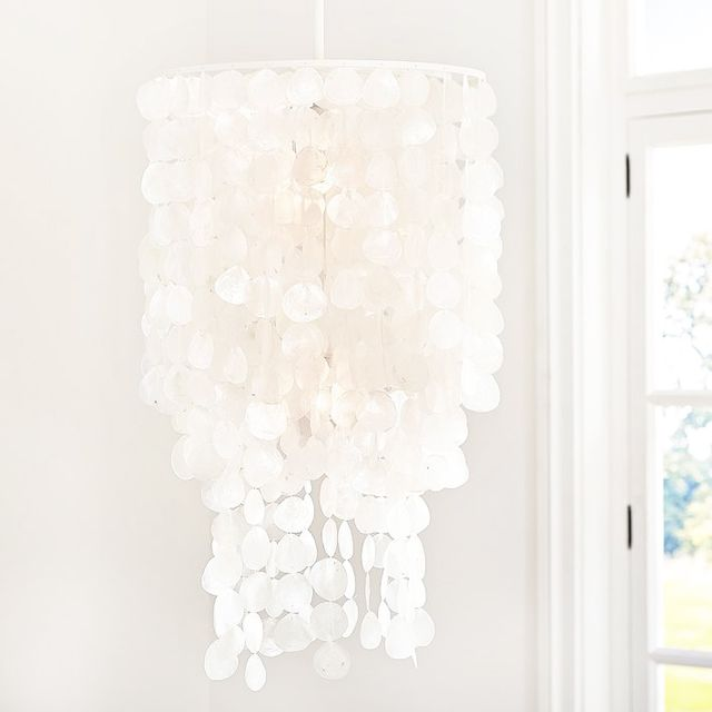 Pottery Barn Teen Oversize Capiz Chandelier