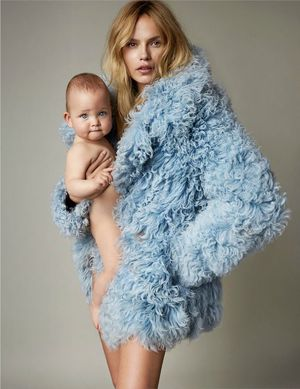 Natasha Poly And Her Baby Daughter Are Vogue Paris' Cover Stars
