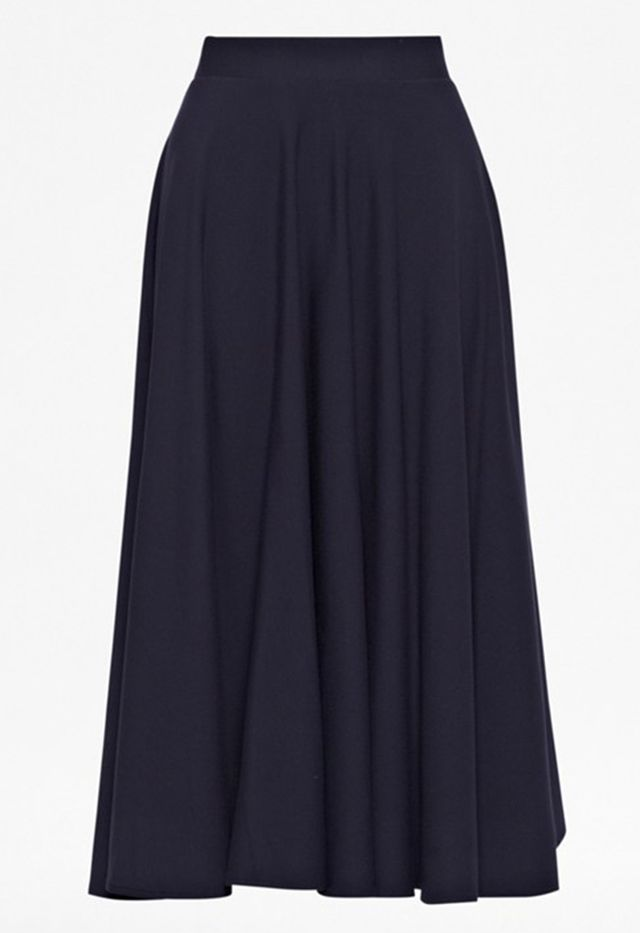 French Connection Marine Stretch Flared Skirt
