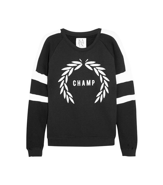 ZOE KARSSEN Champ Cotton-Blend Jersey Sweatshirt