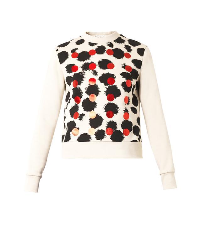 Etre Cécile Cheetah and Dot-Print Sweatshirt