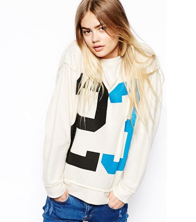 ASOS Super Soft Sweatshirt with Vintage 23 Print
