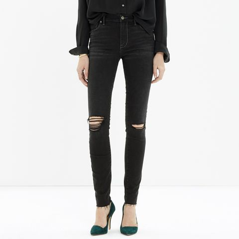 High Riser Skinny Skinny Cut-Edge Jeans