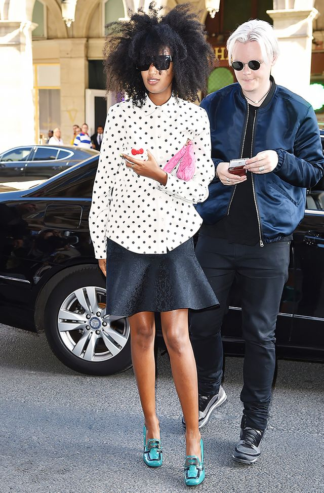 Opt for a polka-dot print that feels playfully Parisian:
