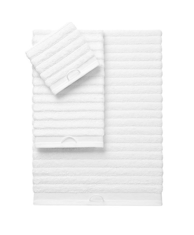 CB2 Rayon Bamboo Channel White Bath Towels
