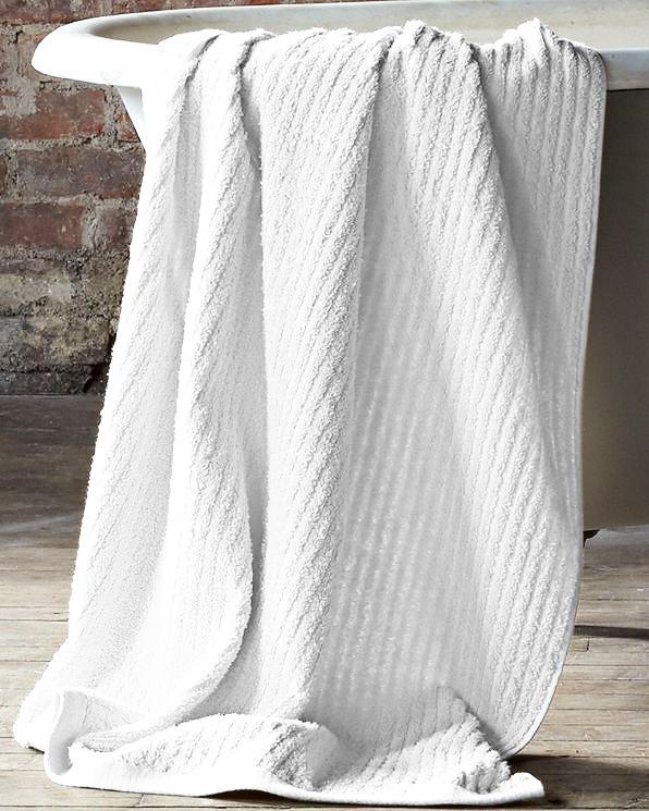 Garnet Hill Eileen Fisher Cotton & Linen Ribbed Towels