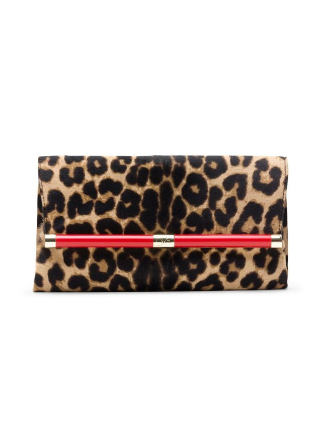 Diane von Furstenberg 440 Envelope Haircalf Clutch