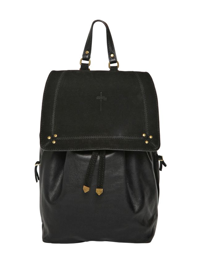 Jerome Dreyfuss Florent Grained Leather & Suede Backpack