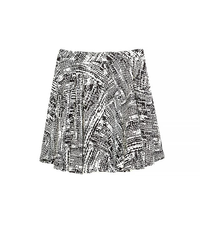 Zara Flared Skirt With Pockets