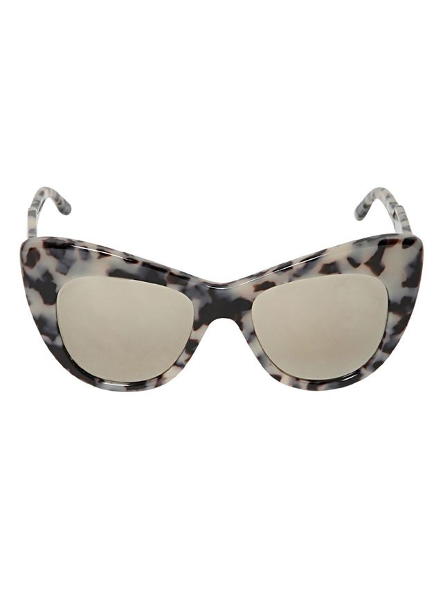 Stella McCartney Tortoise Cat-Eye Acetate Sunglasses
