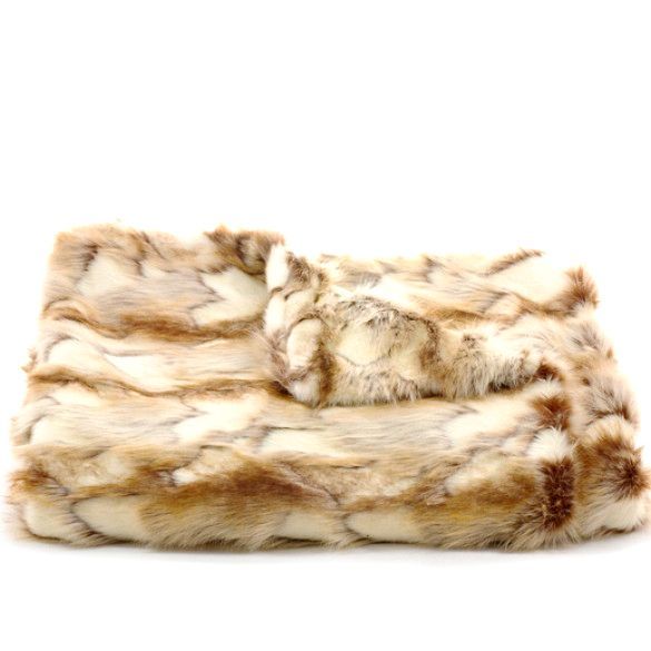 Scenario Home Fox Faux Fur Throw in Copper