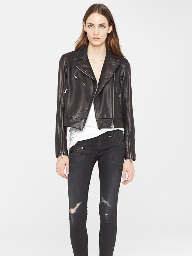 Rag & Bone Victorian Leather Biker Jacket