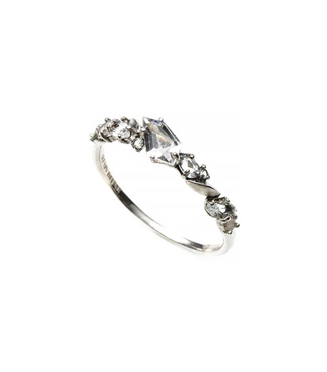 Alexis Bittar Silver Gaze Marquis Small Cluster Band Ring