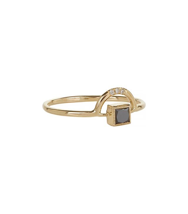 Jennie Kwon Diamond and Gold Arch Ring