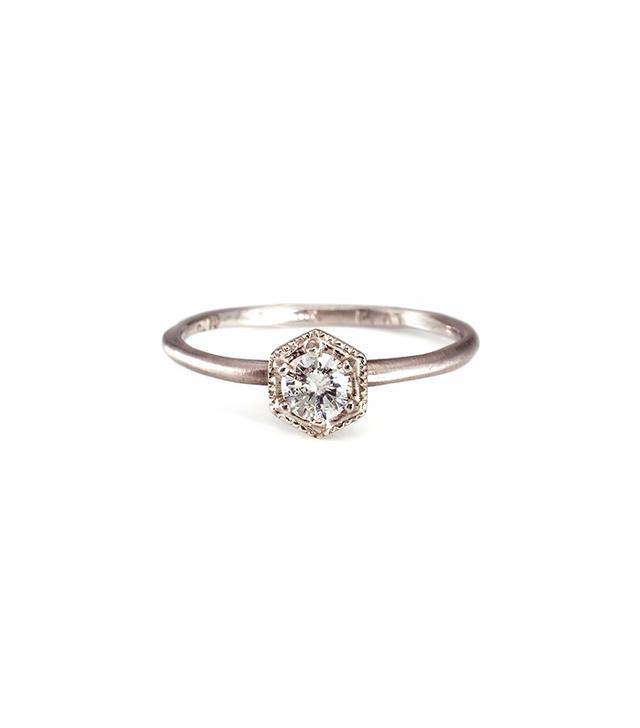 Satomi Kawakita Hexagon Ring, White Diamon