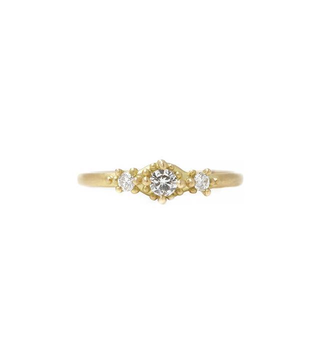 Maurian Maurer Ariel Ring with Three Diamonds
