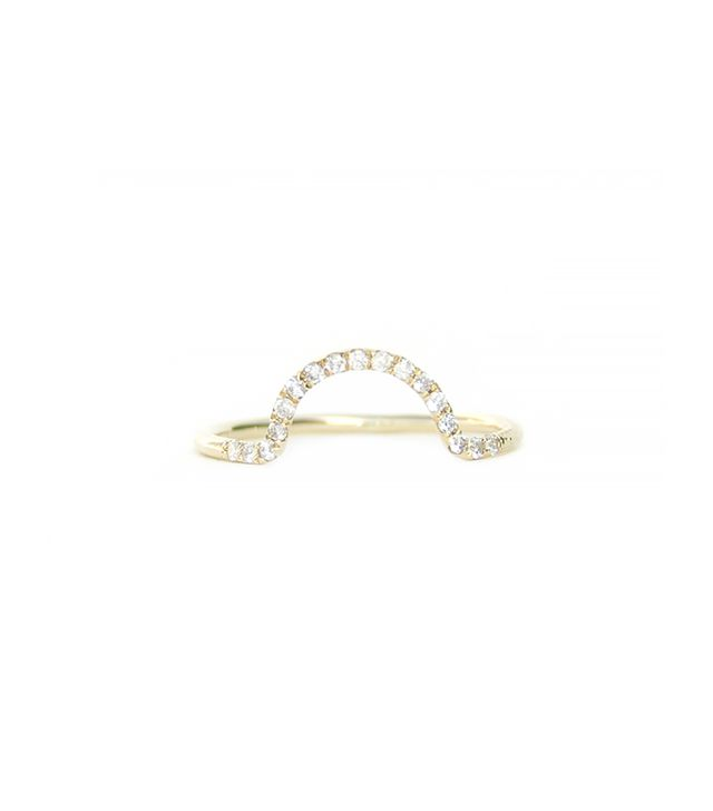 WWAKE Diamond Arc Ring