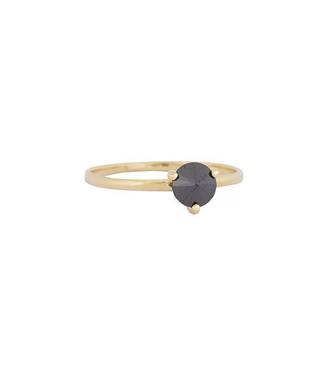 "Ana Khouri Black Diamond & Gold ""Lea"" Ring"