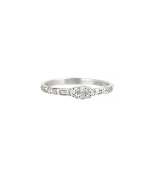 Elisa Solomon Anna Kerenina Marquise Diamond Ring