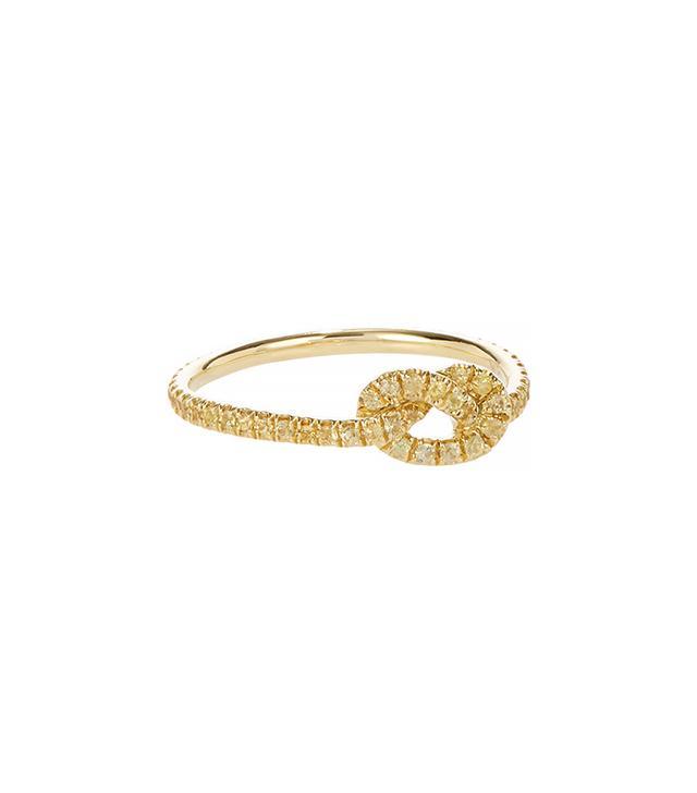 Finn Yellow Sapphire & Gold Love Knot Ring