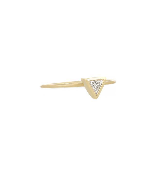 Jennifer Meyer 18-Karat Gold Diamond Triangle Ring