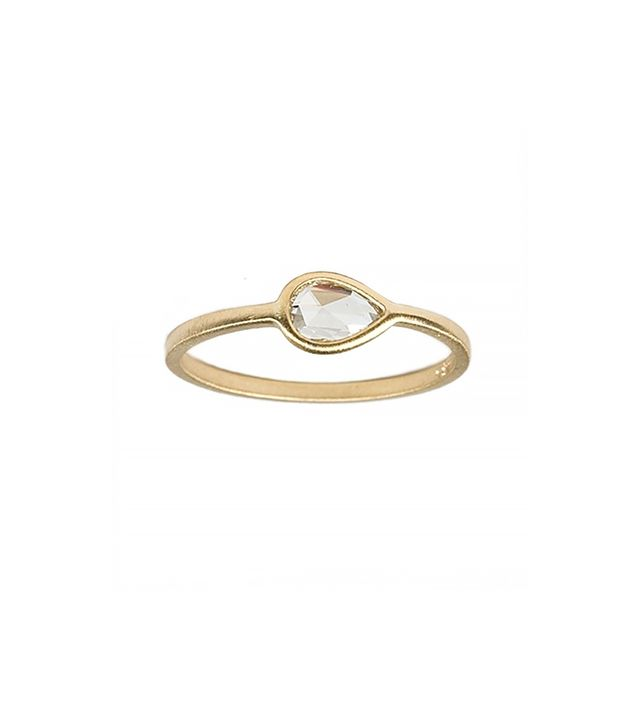 Gillian Conroy Diamond Teardrop Ring