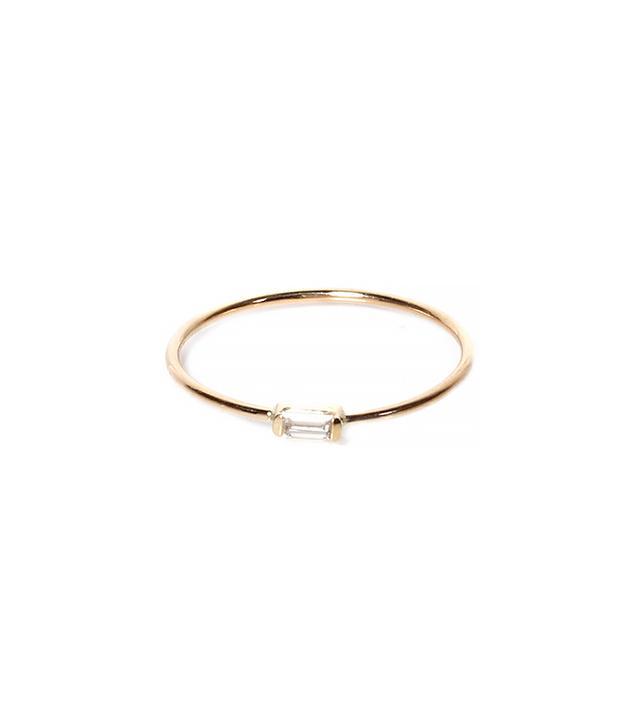 Zoe Chicco 14K Horizontal Baguette Ring