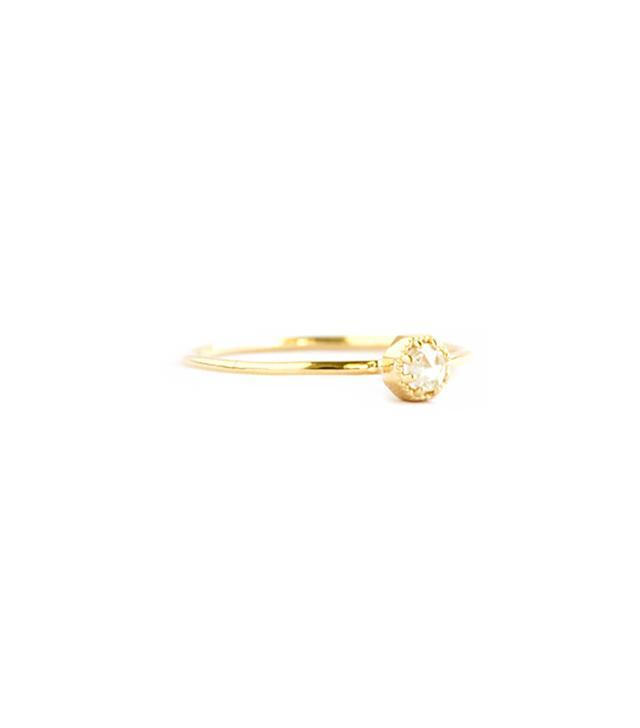 Grace Lee Designs Crown Bezel Diamond Ring