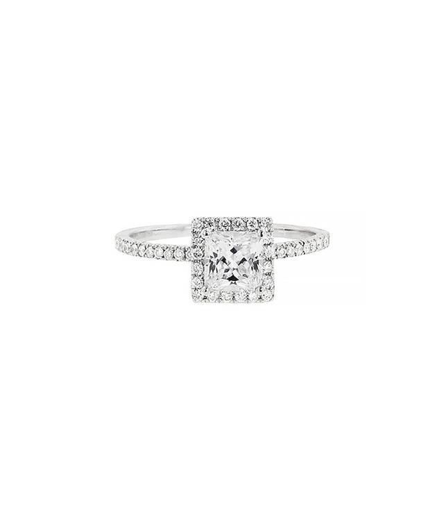 Hidalgo Princess Cut Diamond Solitaire Setting - White Gold