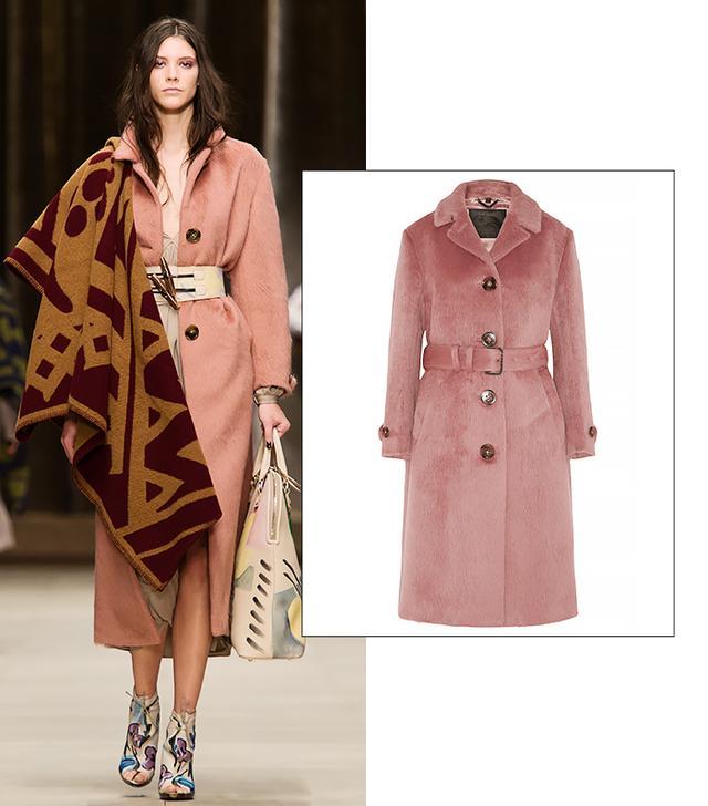 Burberry Prorsum Brushed-Wool Coat