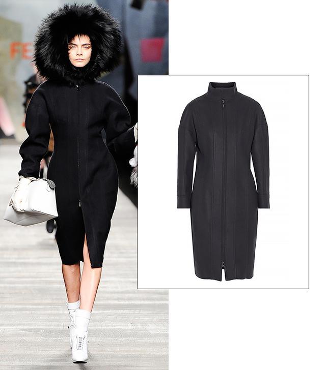 Fendi Paneled Wool and Cashmere-Blend Coat